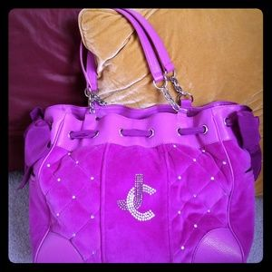 Large Signature Juicy Couture Tote Bag!
